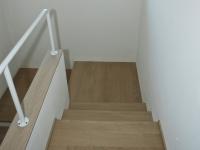 scala cemento ricoperta legno