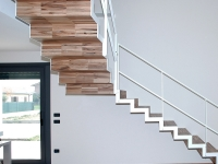 scala acciaio legno industriale