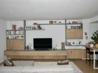 Arredo mobile tv a progetto con incasso fan coil scomparsa