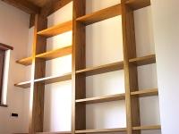Libreria forte spessore rovere verniciato