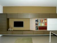 Mobile tv e libreria ad anta scorrevole