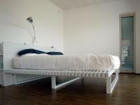 letto legno rovere massello sbiancato